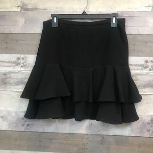 Ralph Lauren Ruffle Mini Skirt Size 4 Black